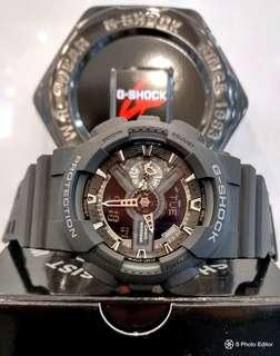 * FREE DELIVERY * Brand New 100% Authentic Casio GShock Black Steakth Mens Casual Watch GA-110-1BDR GA110