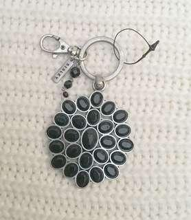 Made in Italy Black Gem Keychain