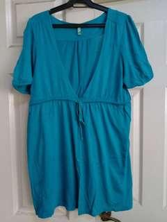 Old navy turquoise coverup top