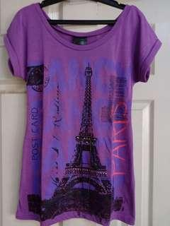 Human purple paris shirt