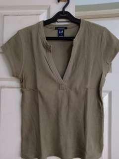Gap stretch ribbed shirts