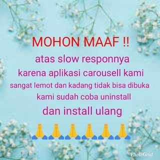 MOHON MAAF ....