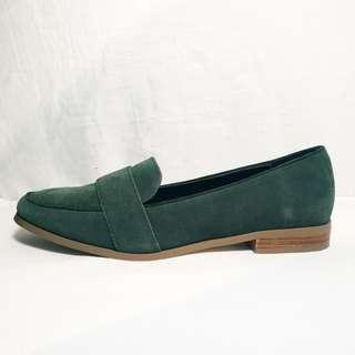 ASOS - Size 9 - Green Suede Slip On Shoes