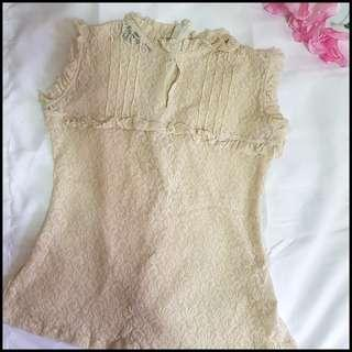 [Mailed] Crochet See Through Top