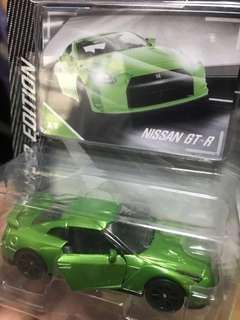 Majorette Nissan GT-R Limited Edition Chrome Green