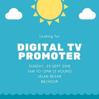 Digital TV Promoter - Part Time