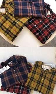 日本代購🇯🇵Moussy 秋款格仔恤衫