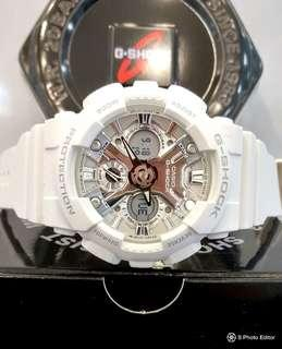 * FREE DELIVERY * Brand New 100% Authentic Casio GShock Mini S Series for Lady's White on Mirror finish Dial GMA-S120MF-7A1DR GMAS120MF