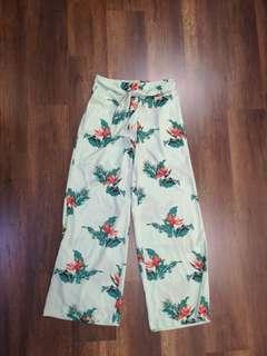 Brand new mango green wide leg palazzo pants