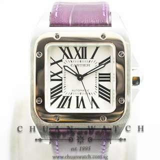 Pre-Owned Cartier Santos 100 Midsize Two-Tone W20107X7 - Discontinued