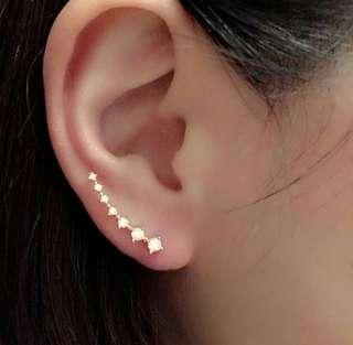 7-pc Diamond Ear Hook Earringsfor fashion