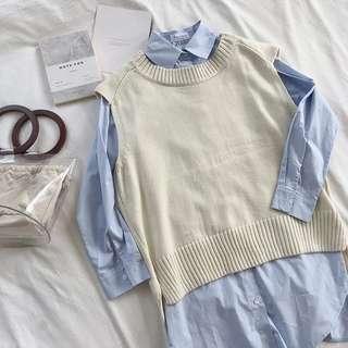 🚚 假兩件 針織衫