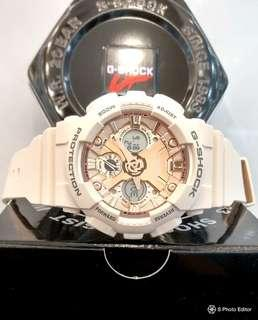 * FREE DELIVERY * Brand New 100% Authentic Casio GShock Mini S Series for Lady's Rose Gold Casual Watch GMA-S120MF-4ADR GMAS120MF