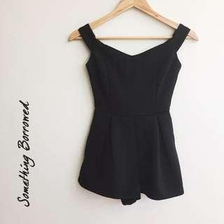 🆕 Something Borrowed Black Off Shoulder Romper/ Jumpsuit #MidSep50 #3x100