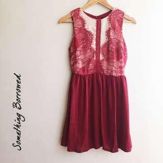 Something Borrowed Red Lace Dress #MidSep50 #3x100