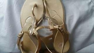 Melissa Gold butterfly sandals sz 37