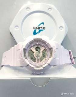 * FREE DELIVERY * Brand New 100% Authentic Casio BabyG Purplish Pink Lady's Casual Watch BA-110-4A2DR BA110