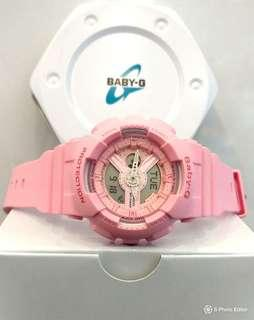* FREE DELIVERY * Brand New 100% Authentic Casio BabyG Sweet Pink Lady's casual Watch BA-110-4A1DR BA110