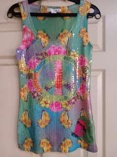 Majora colorful sequined tank top