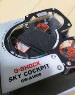 CASIO G-SHOCK SKY COCKPIT  GW-A1000 retail display stand