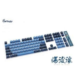 Ducky 海波浪 《Good in Blue》 PBT Double-Shot keycap set comes with the YOTD G.I.B 11 keys
