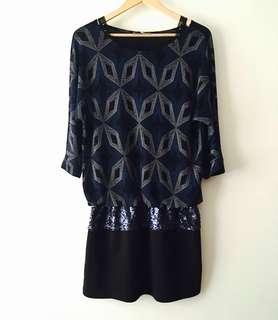 G&Ange Beaded Womens Elegant Modest Dress Size 38