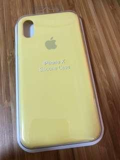 🚚 iPhone X Silicone Case Yellow