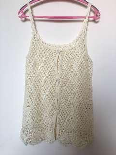 Japanese brand crochet vest