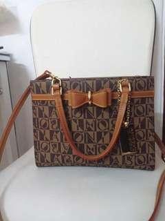 Bonia Ribbon Hand Bag