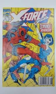 X-Force #11 (1991,1st Series) 1ST Appearance of Domino! Deadpool Vs Domino Grudge Match! Super-Hot Key Book!