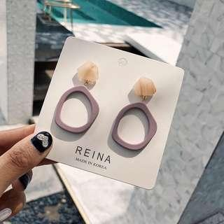 5 colours earrings