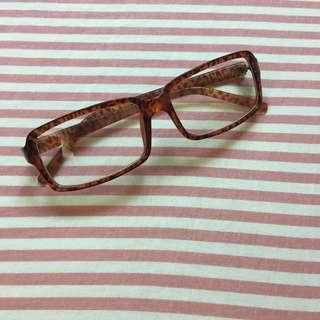 🚚 🛒清倉特價🛒 琥珀 豹紋 咖啡色 膠框眼鏡架 造型眼鏡