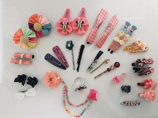 Girls hair clips pins and accessories