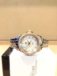 Pre Owned Tag Heuer Link WJF1354 White Diamond MOP Dial Quartz Steel Casing Bracelet