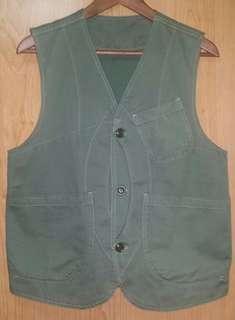 Vintage 古著 軍綠色工裝馬甲背心