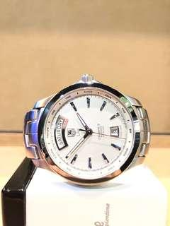 Pre Owned Tag Heuer Link WJF2011 White Dial Automatic Steel Casing Bracelet
