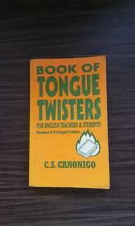 Book Of Tongue Twisters *actual photo posted*