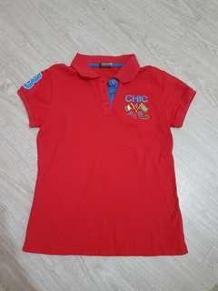 🚚 Crocodile 鱷魚牌薄版紅色Polo衫-14號