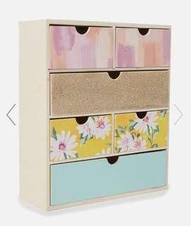 Makeup drawers storage