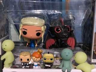 Game of Thrones Metallic Daenerys and Drogon 2-Pck OOB