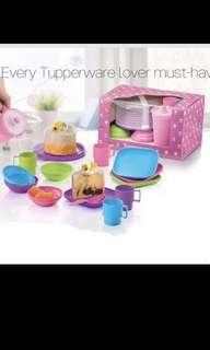 Tupperware pretend play miniature tea set