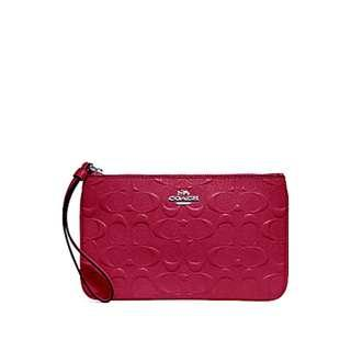 🚚 NEW ARRIVAL Coach Large Wristlet In Signature Leather Hot Pink