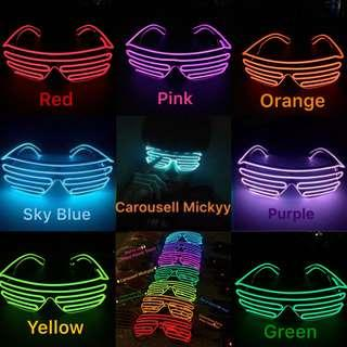 LED Light Up Shutter Shaped Glasses Party / Birthday / Hens Night / Special Event Glasses / DND / Team Building / Wedding