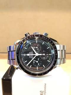 Pre Owned Omega Speedmaster Professional 311.30.42.30.01.005 Winding Steel Black Dial Steel Casing Bracelet