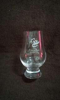 Vintage The English Whisky Co. Glass