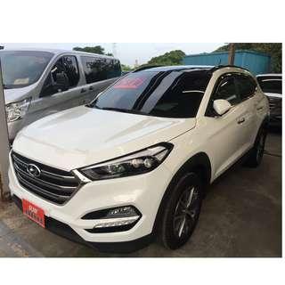 <可私分 超額貸 全額貸 零利率 雙證件和3500即可牽車> 2017 Hyundai Tucson 2.0 白