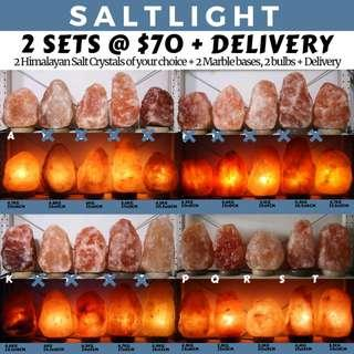 🚚 AUTHENTIC HIMALAYAN CRYSTAL SALT LAMPS FROM SALTLIGHT P/L | 84 MINERALS ESSENTIAL TO HUMAN BODY | 2 SETS FOR ONLY $70 + DELIVERY