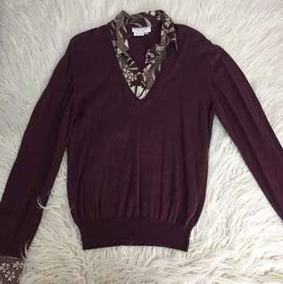 Maroon Longsleeve with built in Polo