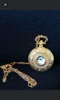 懷旧金色懷錶十頸鏈