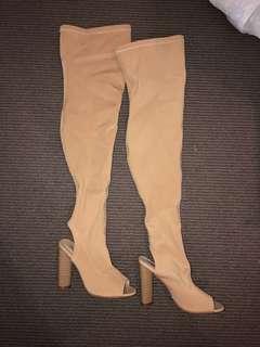 Freelance knee high boots